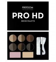 Набор для бровей Medium  Dark Freedom Makeup London Pro HD Brow Palette
